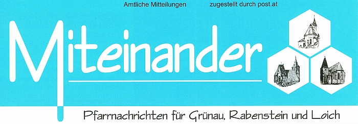 Pfarrbrief Header blau